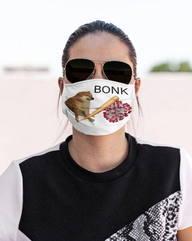Bonk Virus Cheems Doge Funny Cat Full printed Face Mask #HL