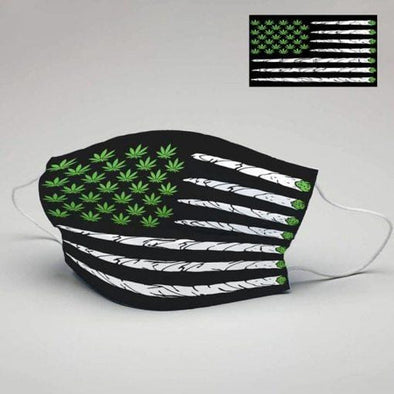 Retro Weeds American Flag Full printed Face Mask #HL