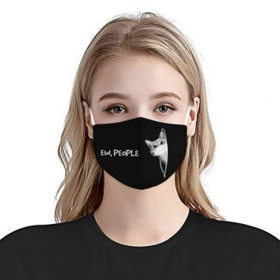 Ew People Funny Cat Lover Full printed Face Mask #HL