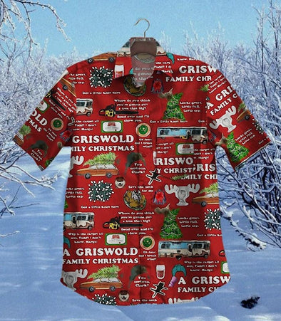 Amazing Merry Christmas red Unisex Hawaiian Aloha Shirts #3010L