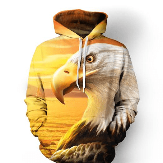 Amazing Eagle Into The Sunset Hoodie 3D All over print
