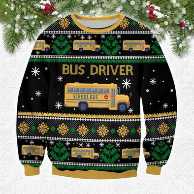 Bus Driver Christmas Sweater 100% wool material