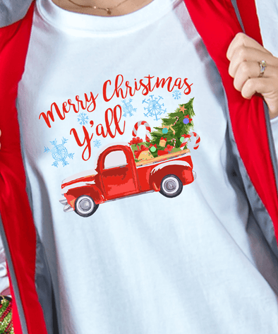 Merry Christmas Y'all Red Car Ride Pine Hoodie #HL