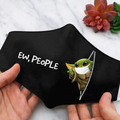 Ew People Baby Yoda Full printed Face Mask #DH
