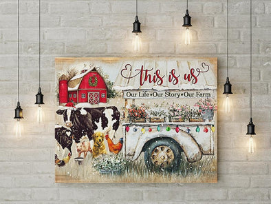 Our Life Our Story Our Farm Christmas Canvas Prints #2310DH