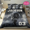 Football Helmet Custom Duvet Cover Bedding Set with Your Name And Number #608DH