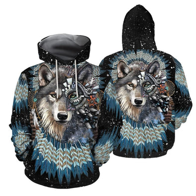 Native American Wolf Queen Hoodie 3D All Over Print