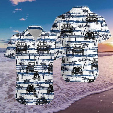 Simple Jeep Hawaiian Aloha Shirts
