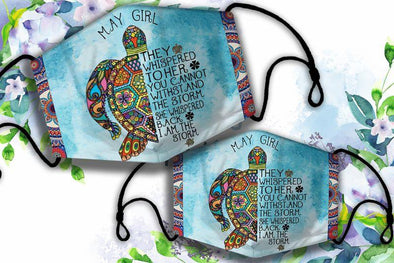 May Girl Birthday Gift Turtle Lover Custom Month Full printed Face Mask #HL