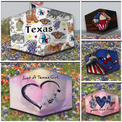 Just A Texas Girl Custom Full printed Face Mask #HL
