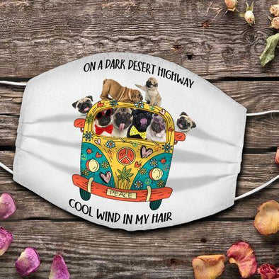 Funny Dog Lover Hippie Van Weed Full printed Face Mask #HL