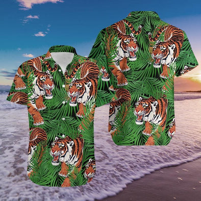 Tiger Tropical Hawaiian Shirts #DH