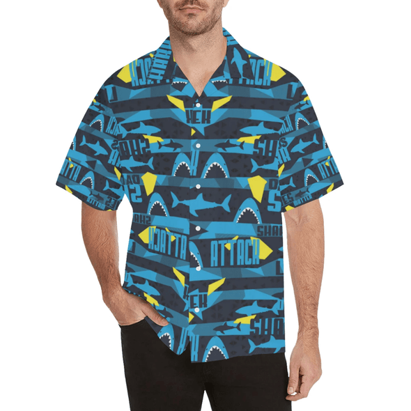 Funny Shark Summer Vibe Tropical Hawaiian Aloha Shirts
