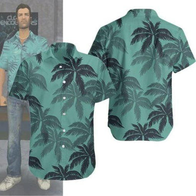 Tommy Vercetti GTA Coconut Hawaiian Shirts 3D #V
