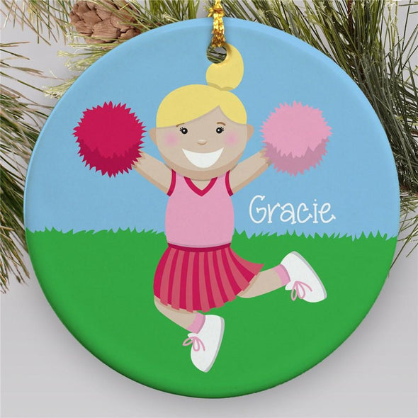 Personalized Cheerleader Girl Ornaments - Christmas Holiday Gift - Custom Name
