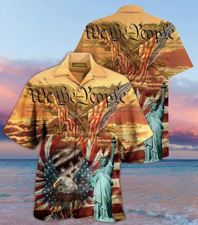 We The People American Flag Eagle Hawaiian Shirts 3D #V