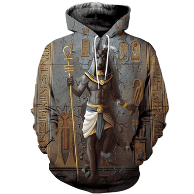 Amazing Anubis Egypt Hoodie 3D All Over Print