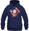 GearLaunch Apparel Customized Baseball Flag T-shirt with name #164v
