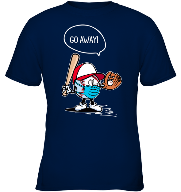 GearLaunch Apparel Kids Classic Tee / Navy / XS Go away Baseball T-shirt
