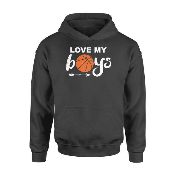 Dreamship Apparel S / Black Custom Hoodie Basketball Love My Boys
