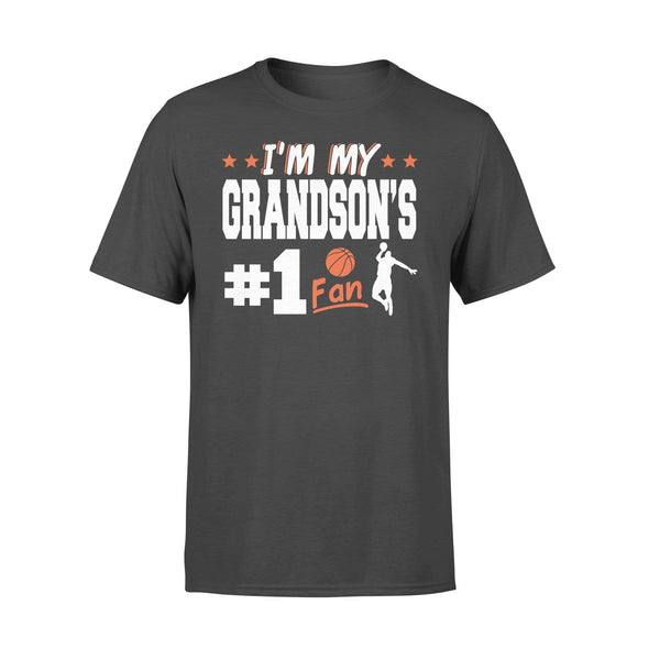 Dreamship Apparel S / Black Custom t-shirt Basketball I'm My Grandson #1 Fan