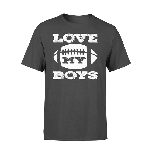 Dreamship Apparel S / Black Custom T Shirts Football Love My Boys