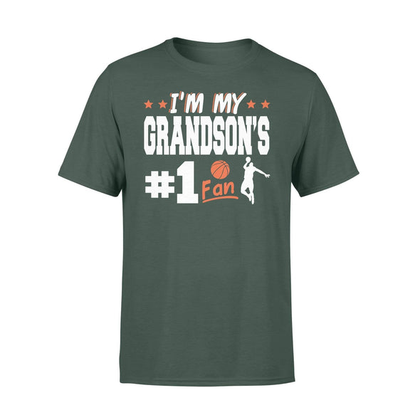 Dreamship Apparel S / Forest Custom t-shirt Basketball I'm My Grandson #1 Fan