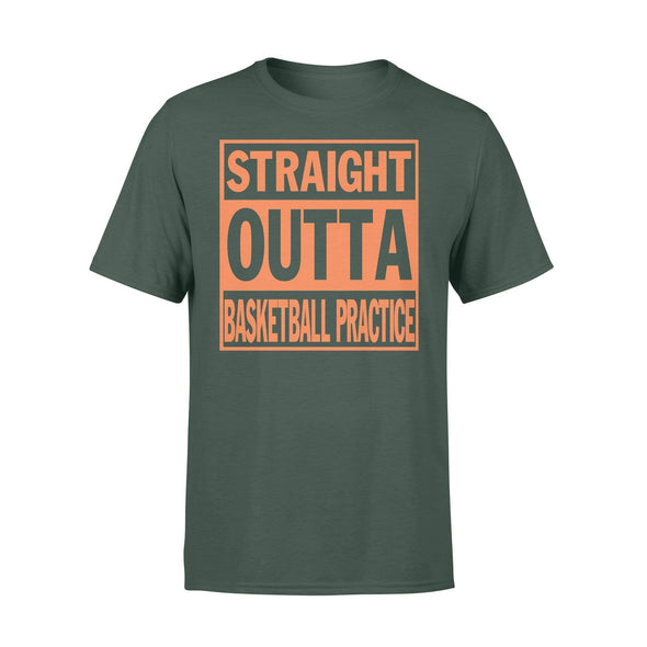 Dreamship Apparel S / Forest Custom T Shirts Basketball Straight Outta Basketball Practice