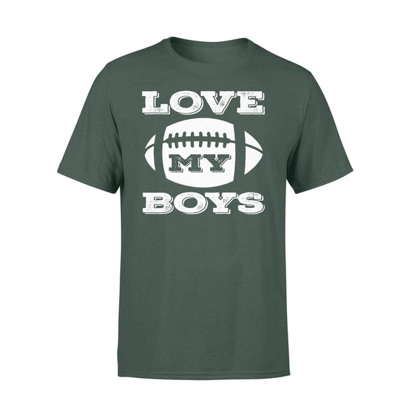 Dreamship Apparel S / Forest Custom T Shirts Football Love My Boys