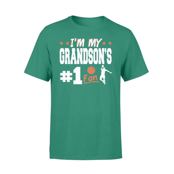 Dreamship Apparel S / Kelly Custom t-shirt Basketball I'm My Grandson #1 Fan