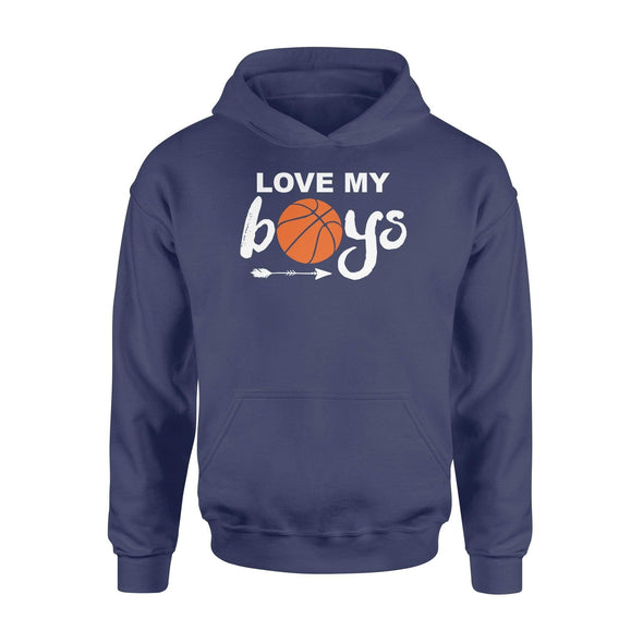 Dreamship Apparel S / Navy Custom Hoodie Basketball Love My Boys