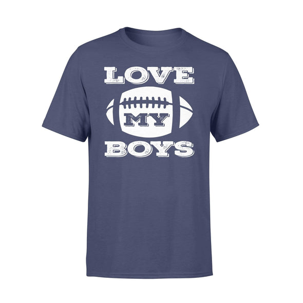 Dreamship Apparel S / Navy Custom T Shirts Football Love My Boys