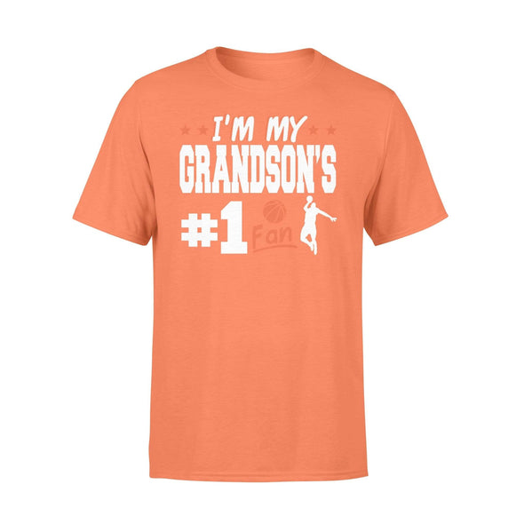 Dreamship Apparel S / Orange Custom t-shirt Basketball I'm My Grandson #1 Fan