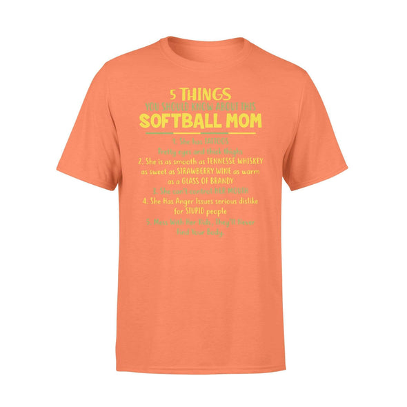 Dreamship Apparel S / Orange Custom T shirt Softball