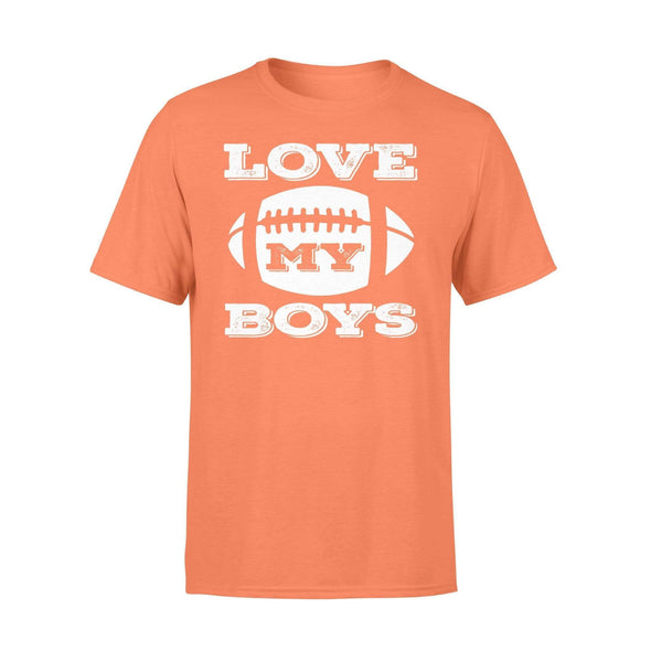 Dreamship Apparel S / Orange Custom T Shirts Football Love My Boys