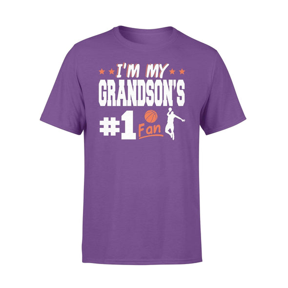 Dreamship Apparel S / Purple Custom t-shirt Basketball I'm My Grandson #1 Fan