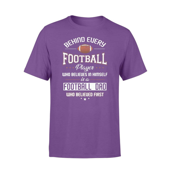 Dreamship Apparel S / Purple Custom T Shirts Football Behind Every Football Player
