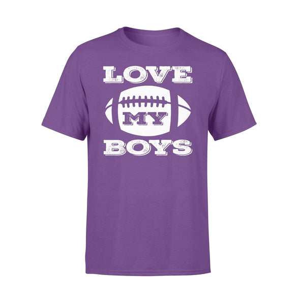 Dreamship Apparel S / Purple Custom T Shirts Football Love My Boys
