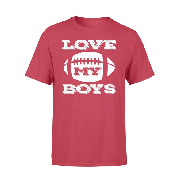 Dreamship Apparel S / Red Custom T Shirts Football Love My Boys