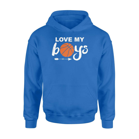 Dreamship Apparel S / Royal Custom Hoodie Basketball Love My Boys