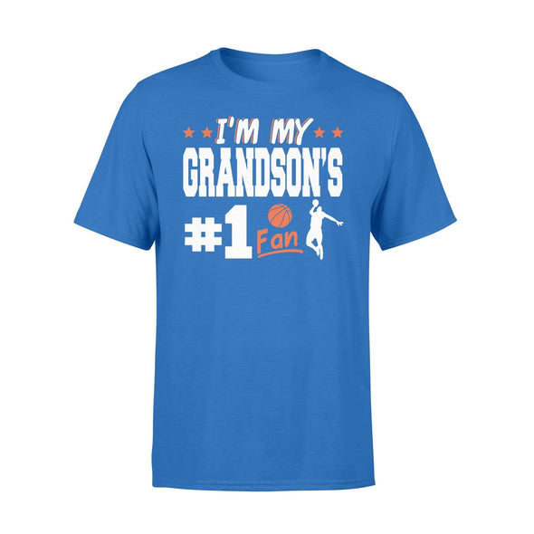 Dreamship Apparel S / Royal Custom t-shirt Basketball I'm My Grandson #1 Fan