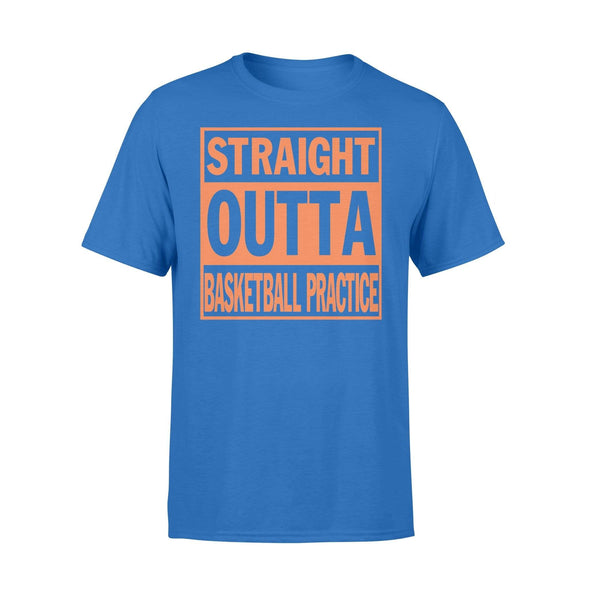Dreamship Apparel S / Royal Custom T Shirts Basketball Straight Outta Basketball Practice