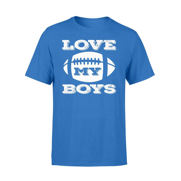 Dreamship Apparel S / Royal Custom T Shirts Football Love My Boys