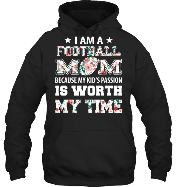 GearLaunch Apparel Unisex Heavyweight Pullover Hoodie / Black / S Football My kid's passion custom t shirt design