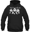 GearLaunch Apparel Unisex Heavyweight Pullover Hoodie / Black / S Football My love is on the line custom t shirt design