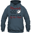 GearLaunch Apparel Unisex Heavyweight Pullover Hoodie / Dark Heather / S Football Momsicle custom t shirt design