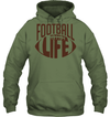 GearLaunch Apparel Unisex Heavyweight Pullover Hoodie / Military Green / S Football Life custom t shirt design