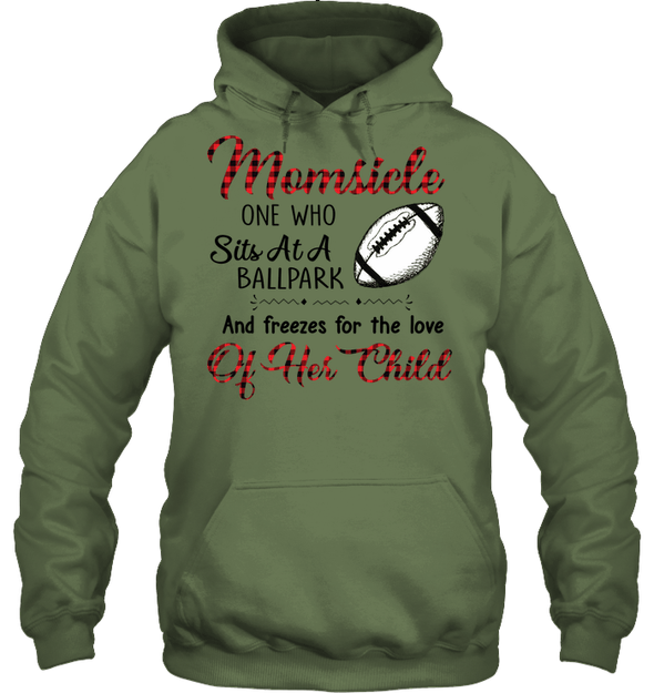 GearLaunch Apparel Unisex Heavyweight Pullover Hoodie / Military Green / S Football Momsicle custom t shirt design