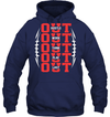 GearLaunch Apparel Unisex Heavyweight Pullover Hoodie / Navy / S Football OUT custom t shirt design