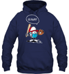 GearLaunch Apparel Unisex Heavyweight Pullover Hoodie / Navy / S Go away Baseball T-shirt